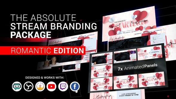 Stream Branding Package. Stream Overlays - Romantic Edition