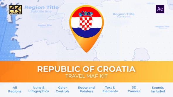 Croatia Map - Republic of Croatia Travel Map