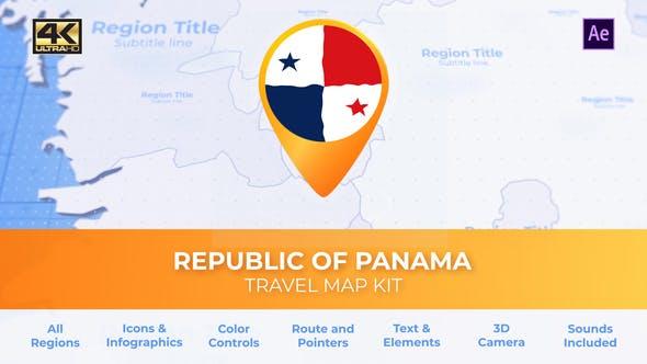 Panama Map - Republic of Panama Travel Map