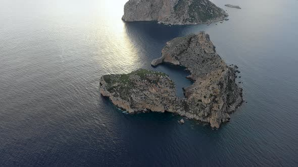 Thumbnail for A Bird's-eye View of Island Isla De Es Vedra. Ibiza and the Balear Islands