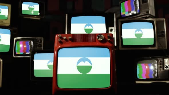 Thumbnail for Flag of Kabardino-Balkaria on Retro TV Stack.