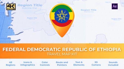 Ethiopia Map - Federal Democratic Republic of Ethiopia Travel Map
