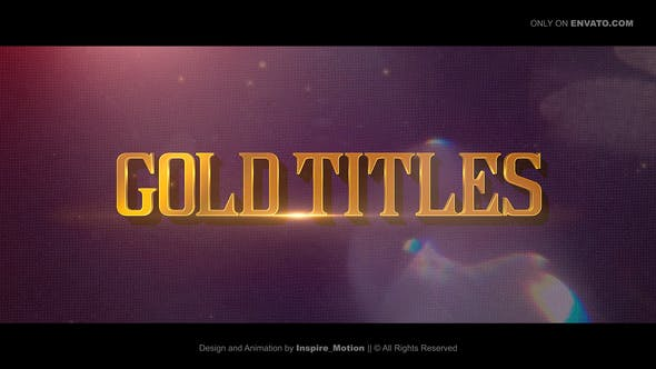 Gold Titles |  Epical Trailer