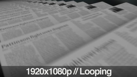 Thumbnail for Hot Off The Press Newspapers Printing Loop