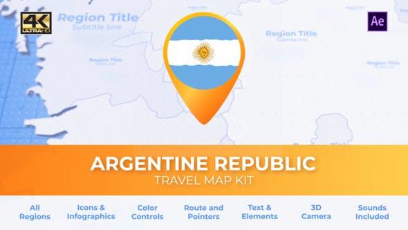 Argentina Map - Argentine Republic Travel Map