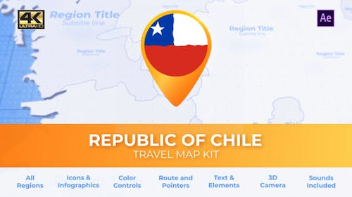 Chile Map - Republic of Chile Travel Map