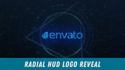 Radial HUD Logo Reveal