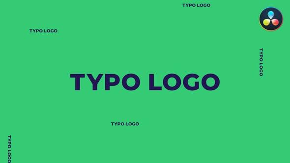 Typo Logo | For DaVinci Resolve
