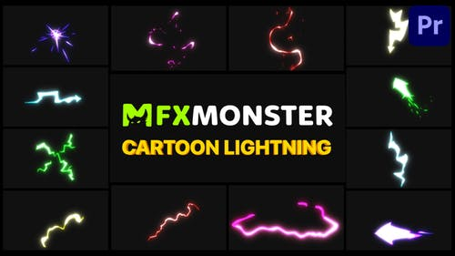 Cartoon Lightning Elements   Premiere Pro MOGRT