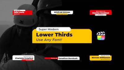 Modern Lower Thirds