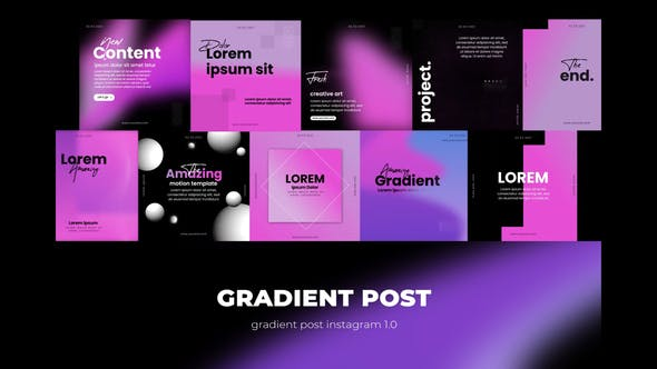 Typografie-Gradienten post instagram