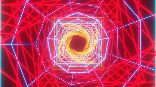 VJ Fractal Red Kaleidoscopic Background