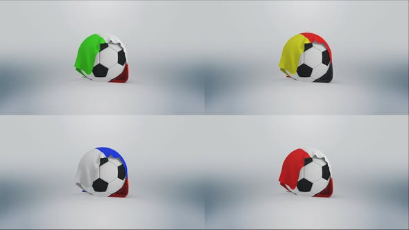 Football Flag Logo - Soccer