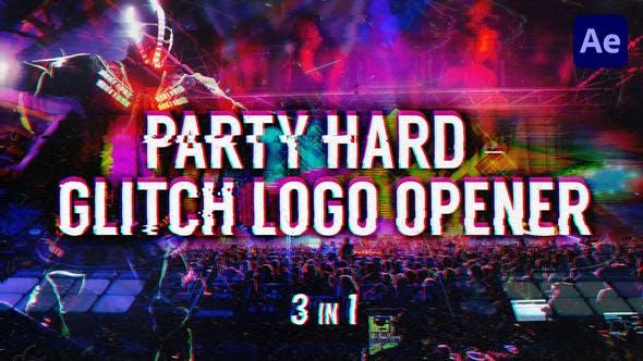 Party Hard - Glitch Logo Opener