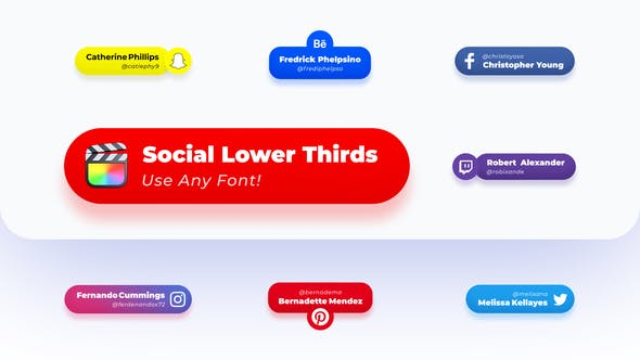 Tercios inferiores redondeados de las redes sociales