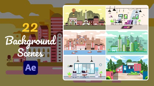 22 Background Scenes   After Effects