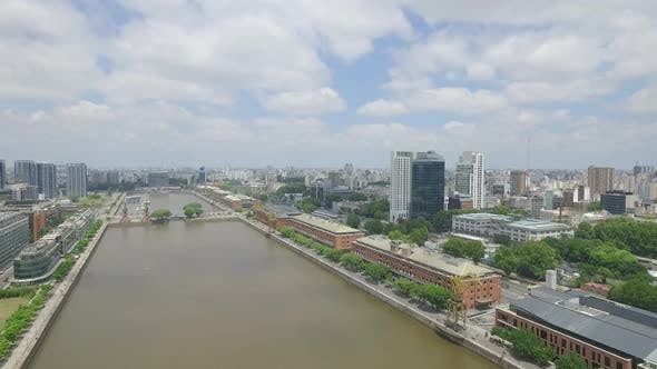 Thumbnail for Puerto Madero-Buenos Aires-Argentina-Aerial Drone Scene