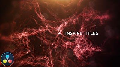 Inspire Titles - DaVinci Resolve