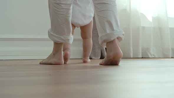 Little Baby Girl Walking