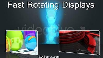 Fast rotating displays