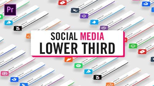 Unicolor Social Media Lower Thirds