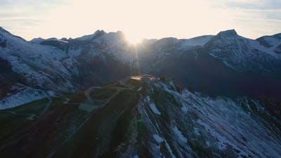 Aerial View Of Edelweissspitze Viewpoint