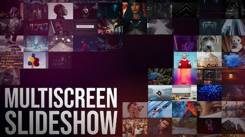 Multiscreen Slideshow || After Effects