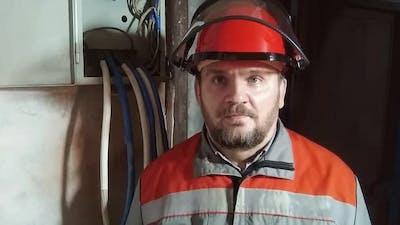 Portrait of a male electrician.