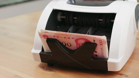 Thumbnail for Counting Chinese banknote on machine