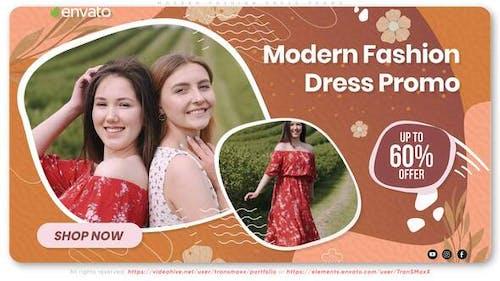 Moderne Mode-Kleid-Promo