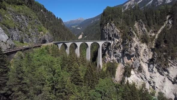 Thumbnail for Aerial View of Landwasser Viaduct, Switzerland
