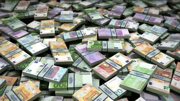Money Bills Euro Banknotes