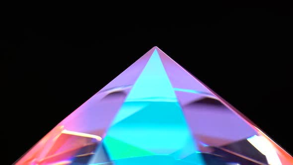 Thumbnail for Pointed End of the Diamond Turns and Shimmers. Black Background