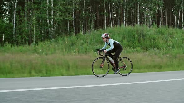 Cover Image for Female Bicycle Racer Training