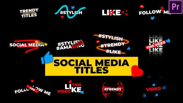 Titres des médias sociaux