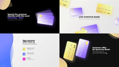 Bank card promo presentation