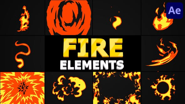Cartoon Fire Pack | After Effects