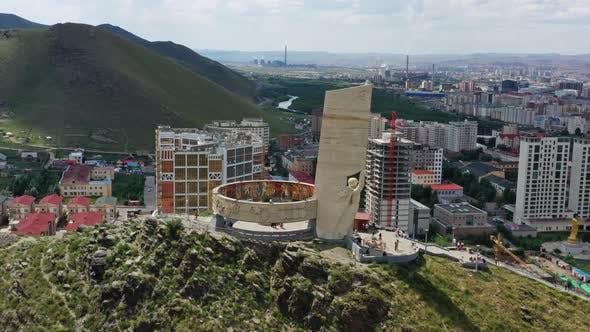 Memorial on Zaisan Tolgoi in Ulaanbaatar