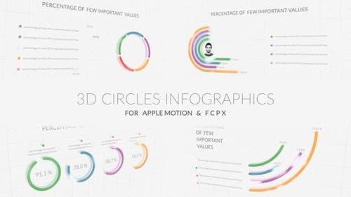 3D Circles Infographics