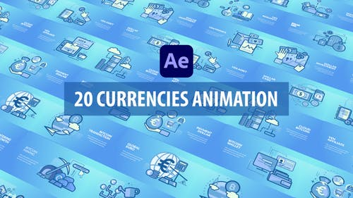 Currencies Animation - After Effects