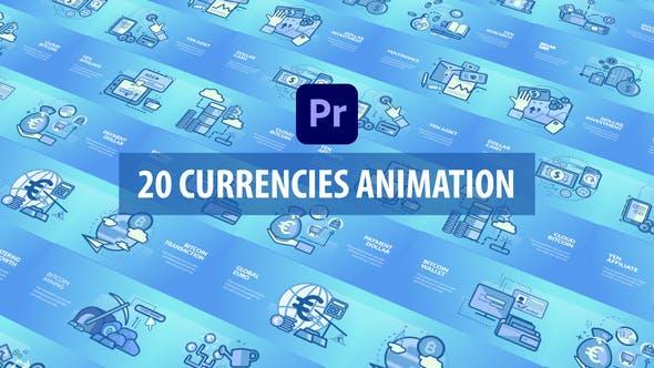 Animation des devises | Premiere Pro MOGRT