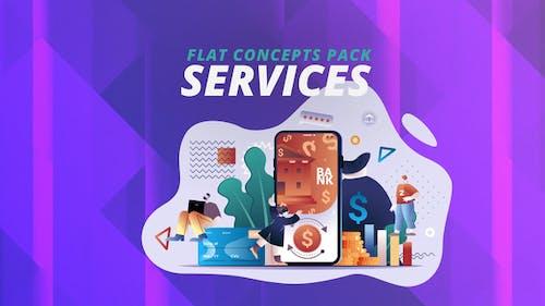 Services - Flat Concept