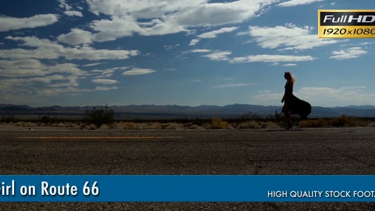 Thumbnail for Girl Walking On Route 66