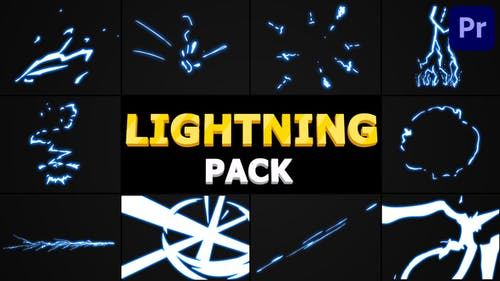 Cartoon Lightning Pack   Premiere Pro MOGRT