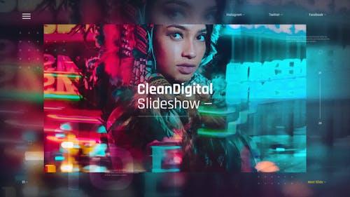 Clean Digital Slideshow / Corporate Presentation / IT Technology Opener / Hi-Tech Gallery