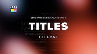 Titles Elegant Cinematic 2