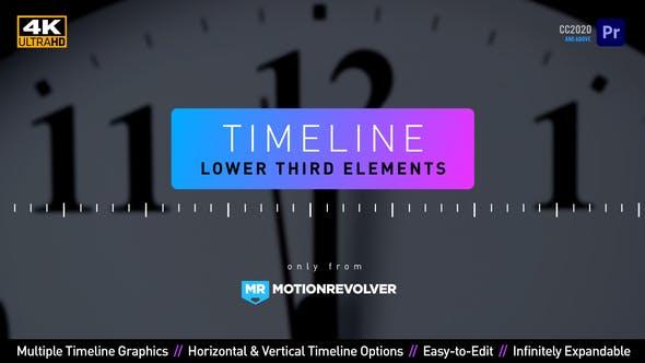 Terceros elementos inferiores de la línea de tiempo | MOGRT para Premiere Pro