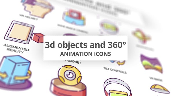 3D objects & 360 - Animation Icons