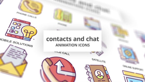 Contacts & Chat - Animation Icons