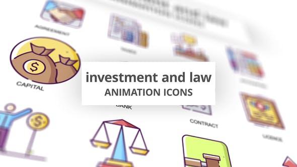 Investissement & Droit - Icones Animation